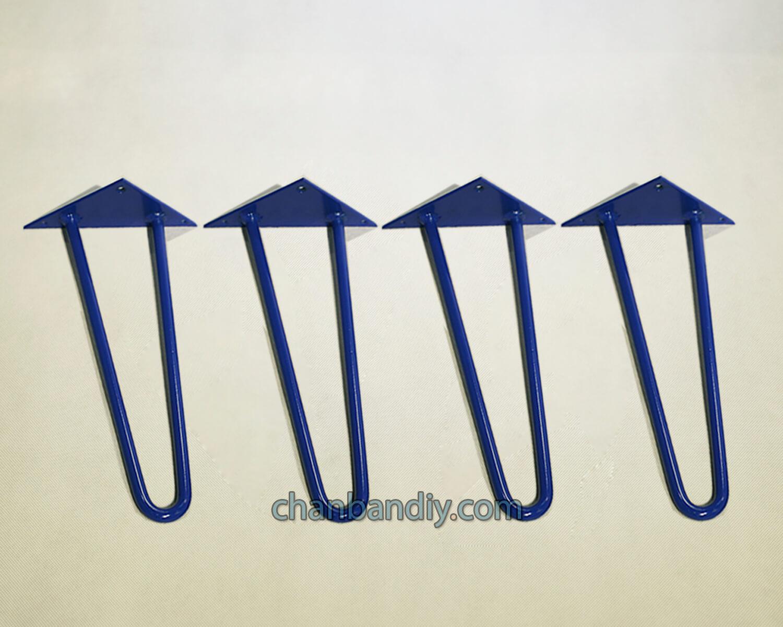 Chân Bàn Hairpin Xanh 30cm