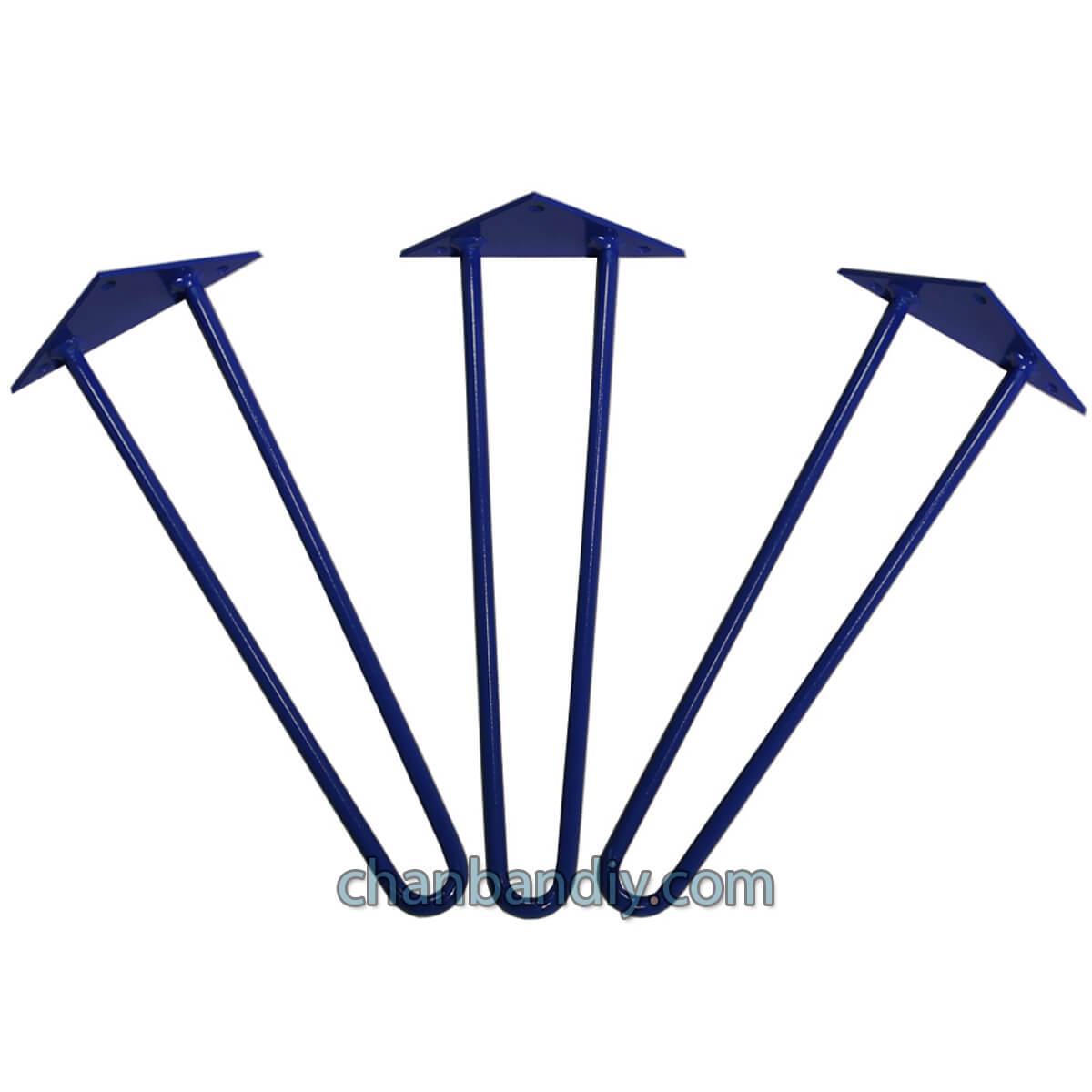 Chân Hairpin 40cm Xanh 1