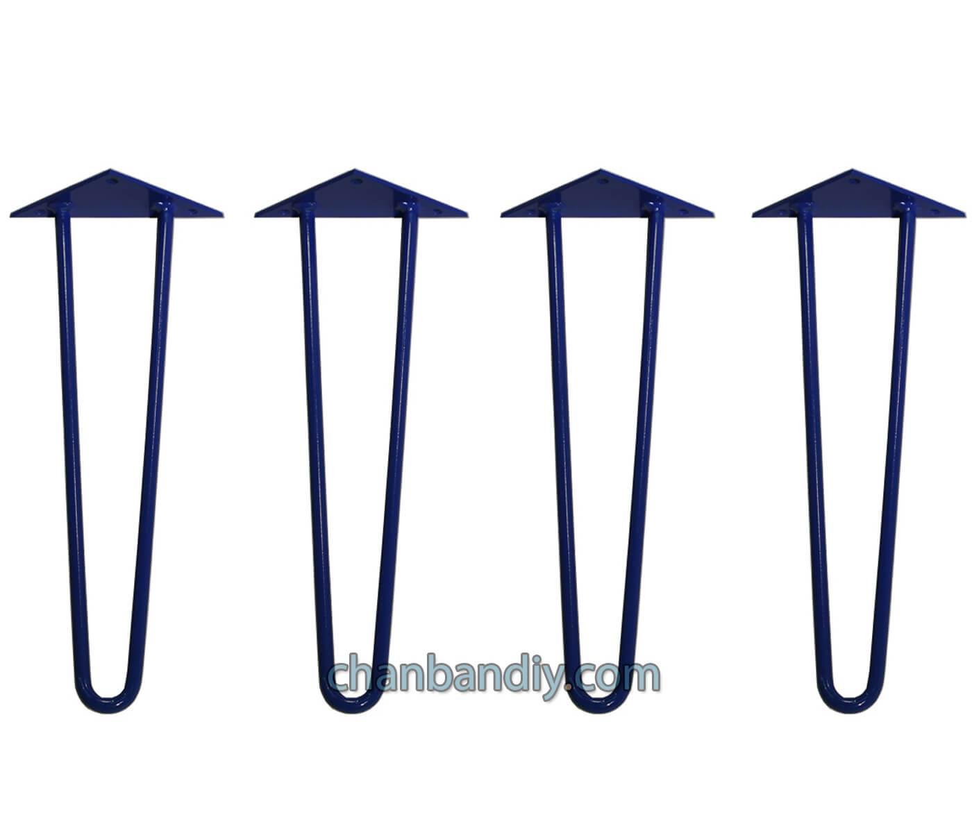 Chân Hairpin 40cm Xanh 2