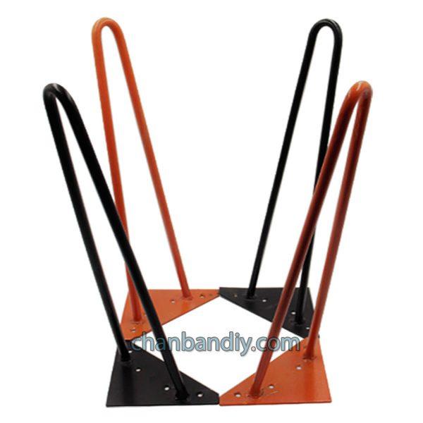 Chân Hairpin 40cm đen và cam