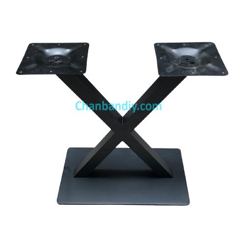 Chân Bàn Sắt Đôi Chữ X